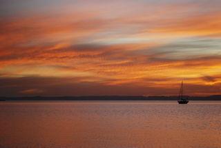 Curare at anchor in Ensenada Grande