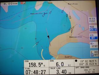 AIS targets in Manzanillo harbour