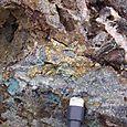 Chalcopyrite (copper) nodule