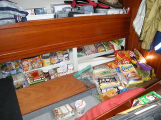 Provisions almost stowed