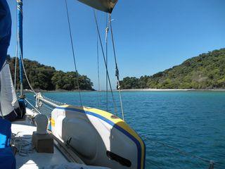 Islas Secas anchorage