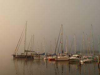 Misty morning at Marina Estancilla