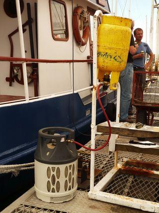Siphoning propane