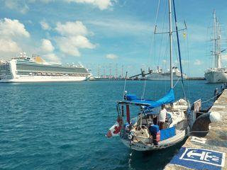 Checking in Barbados