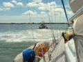 Towed off the sand bar