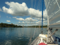 Cape Cod canal on a sunny day