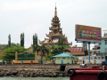 Myanmar border town temple