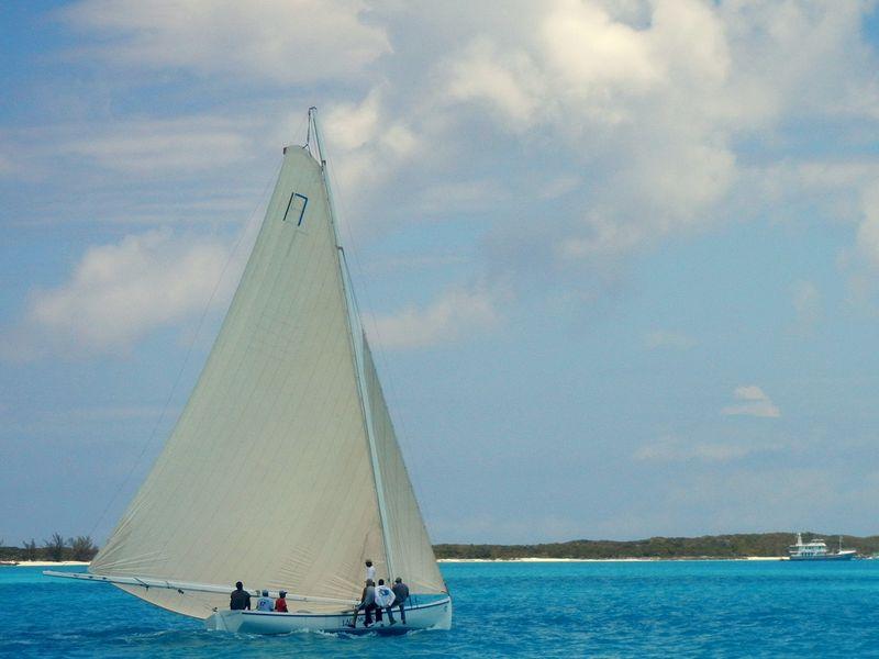Practising for the regatta