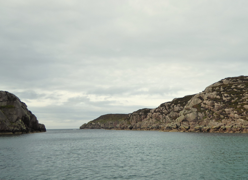 Leaving Tinkers Hole - it looks so calm