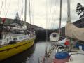 Three boats in a lock