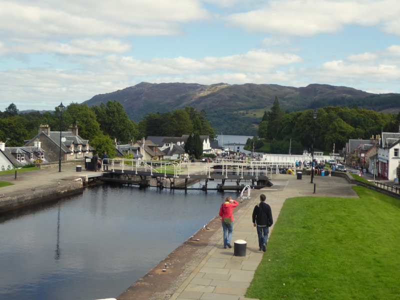Fort Augustus with Loch Ness in background