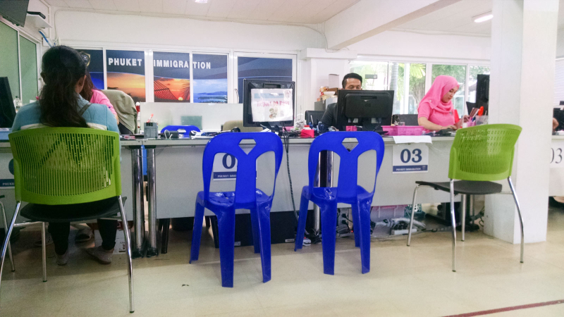 Immigration office desk