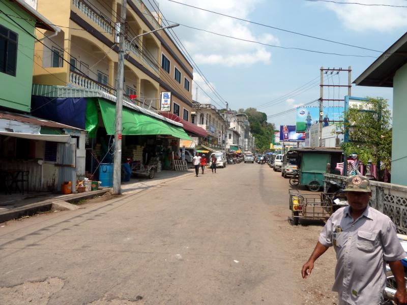 Myanmar border town