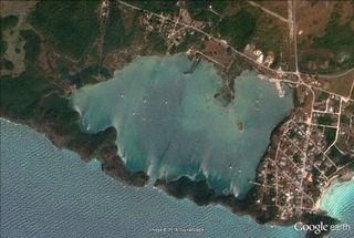 Hatchet Bay from Google Earth