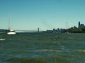 Wind over tide on Hudson River