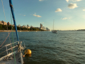 Curare on her mooring at 79th St Boat Basin