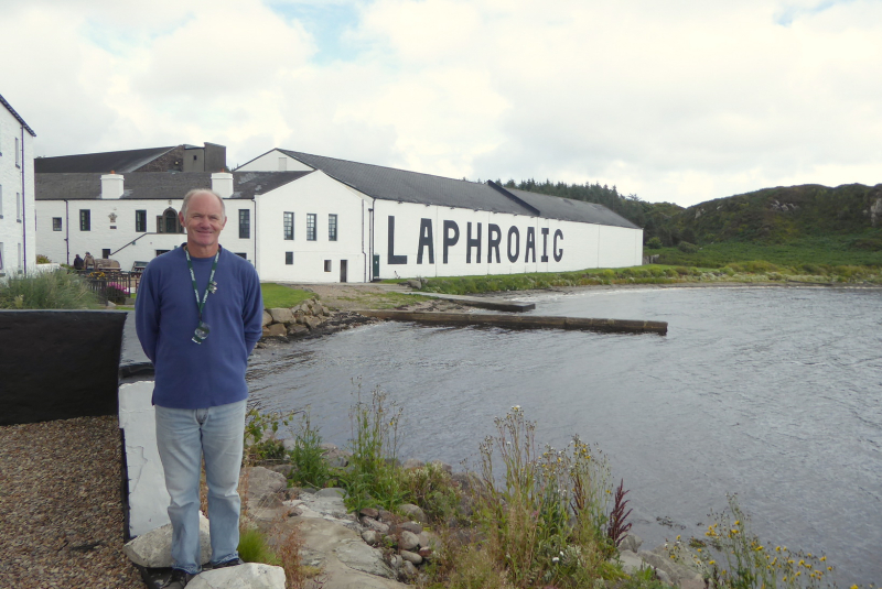GG at Laphroaig