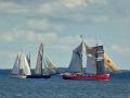 Watching the fleet sail past us at Fur