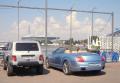 Blue Bentley convertible