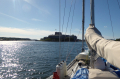 Approaching Vaxholm Fortress
