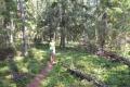 LE walking on a trail