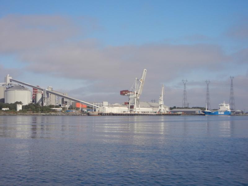 Industrial shoreline