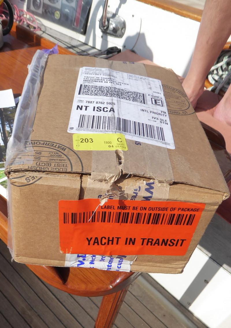 The parcel arrives