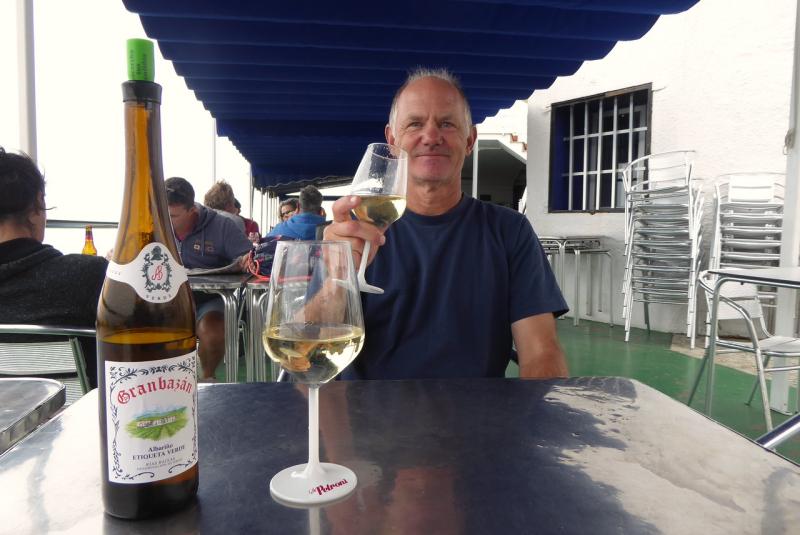 Drinking Albarino at Casa Checo