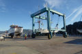 Small Curare in 100 ton travel lift