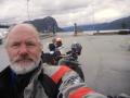 An old motorbike rider