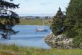 Curare anchored at the Viking Village