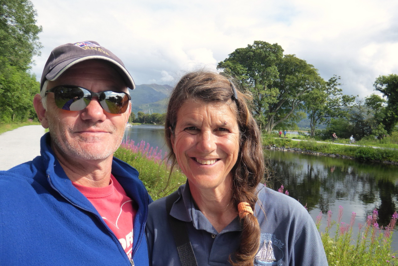 GG and LE at the south end of the Caledonian canal