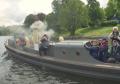 Passing a steam ship
