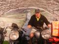 GG on a vintage bike
