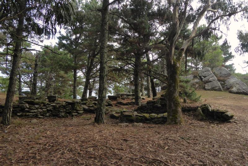 Ancient ruined walls