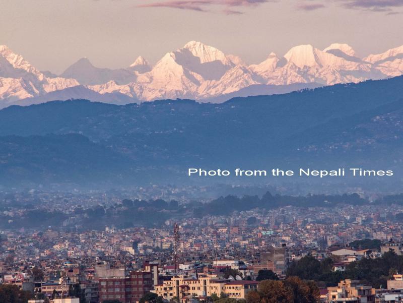 Himalayas from Kathamndu_text