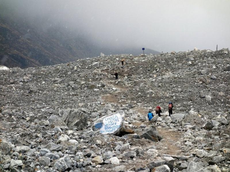Langtang rock slide
