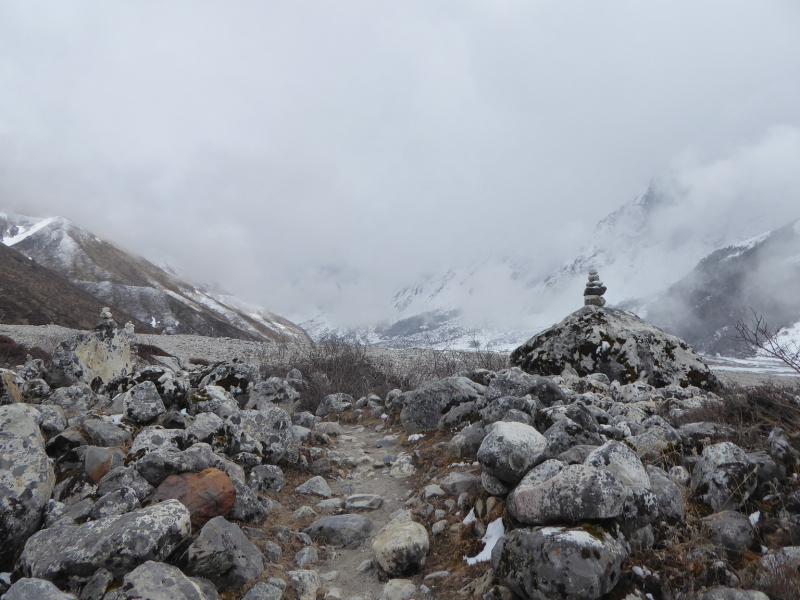 Desolate scenery