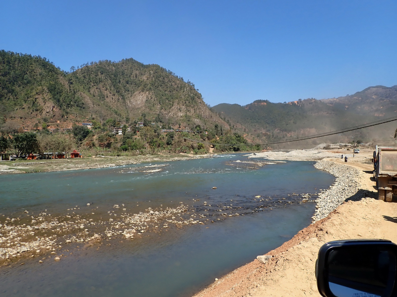 Track by the Trishuli