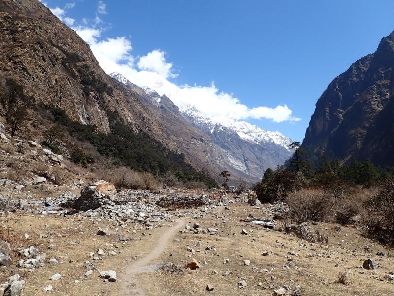 A flat part of the trek
