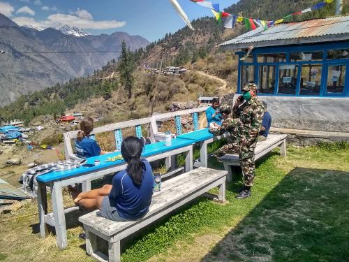 RA  Military police enforce travel ban