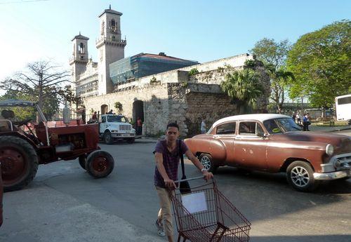 A street scene in Havana