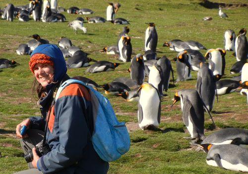 Linda visits the King Penguins