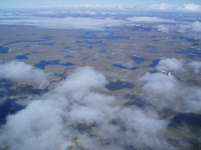 Above the clouds in the arctic