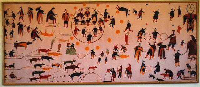 Artwork in Baker Lake Lodge