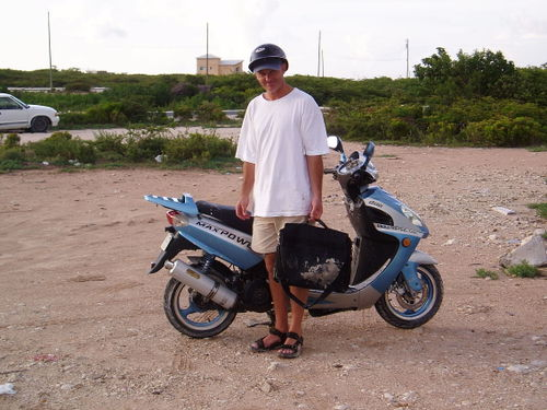 Geoff and the scooter